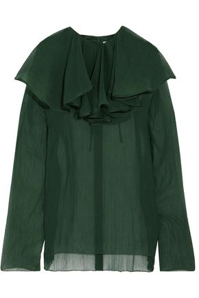 NINA RICCI Layered silk top