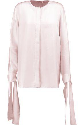 NINA RICCI Silk-twill top