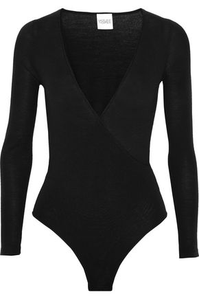 MADELEINE THOMPSON Petra wrap-effect wool and cashmere-blend bodysuit