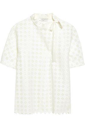 SANDRO Paris Silk-trimmed crochet-knit shirt