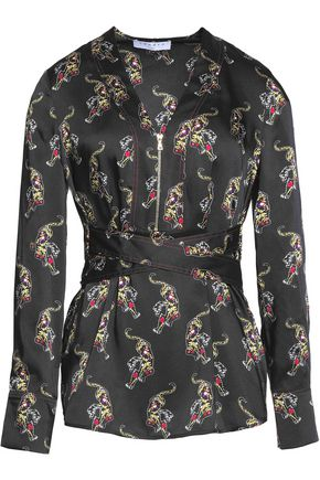 SANDRO Paris Printed satin top