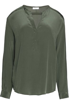 SANDRO Paris Silk crepe de chine blouse