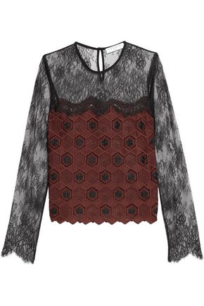 SANDRO Crocheted lace top