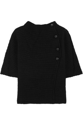 ISABEL MARANT Textured-wool top