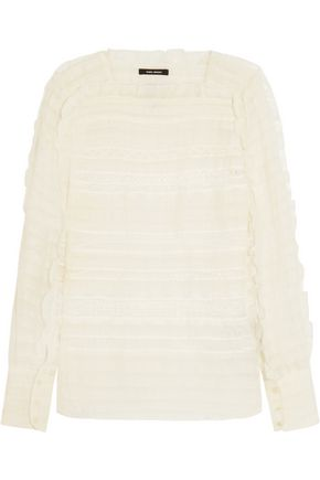 ISABEL MARANT Rivera ruffled organza and lace blouse