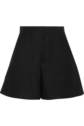 ISABEL MARANT Satia cotton and linen-blend twill shorts