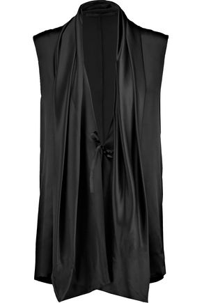 HAIDER ACKERMANN Draped silk top