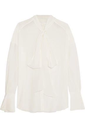 CHLOÉ Pussy-bow silk crepe de chine blouse