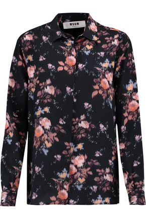 MSGM Printed silk shirt
