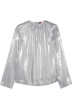 MSGM Metallic satin blouse