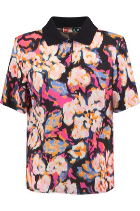 MSGM Printed faille top