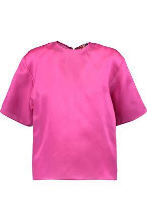 MSGM Silk-organza T-shirt