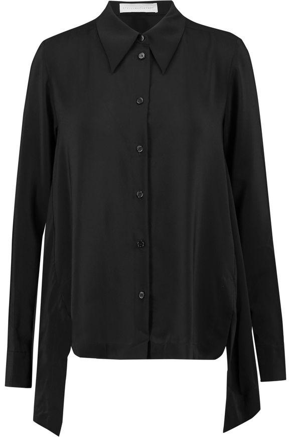 c24eaf124caaf7 Jones draped silk crepe de chine blouse