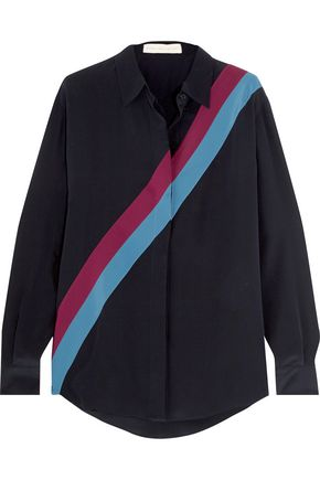 STELLA McCARTNEY Striped silk crepe de chine shirt