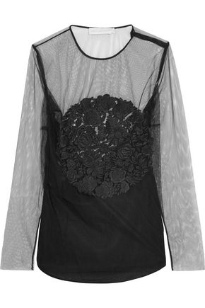 STELLA McCARTNEY Magalie embroidered tulle top