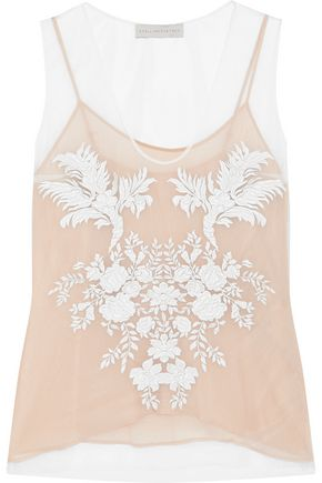 STELLA McCARTNEY Gisele embroidered mesh top