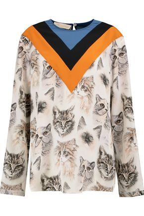 STELLA McCARTNEY Printed silk-crepe top