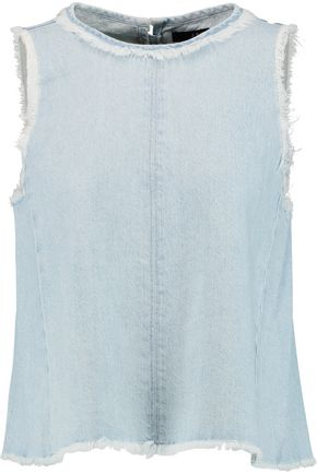 J BRAND Talya frayed denim top