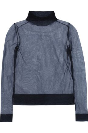 EMILIO PUCCI Metallic organza turtleneck sweater