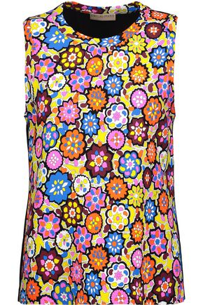 EMILIO PUCCI Printed stretch-crepe top