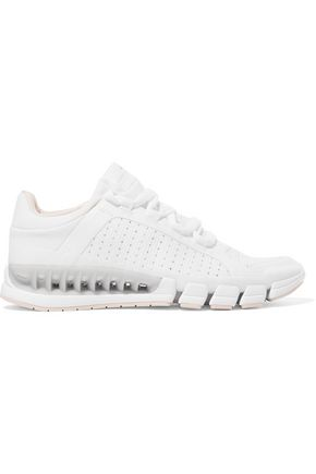 ADIDAS by STELLA McCARTNEY Paneled mesh and stretch-knit sneakers