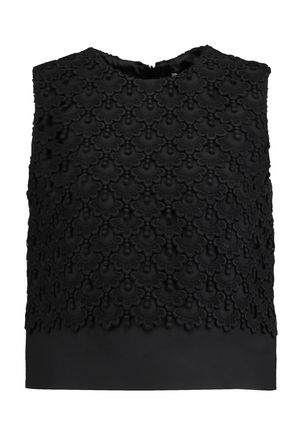 VALENTINO Embroidered crepe top