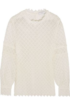 IRO Crocheted lace top