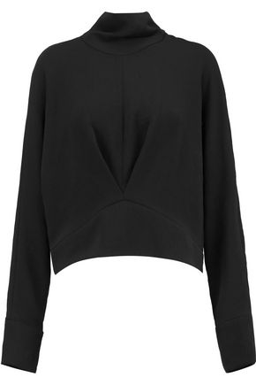 IRO Pleated crepe turtleneck top