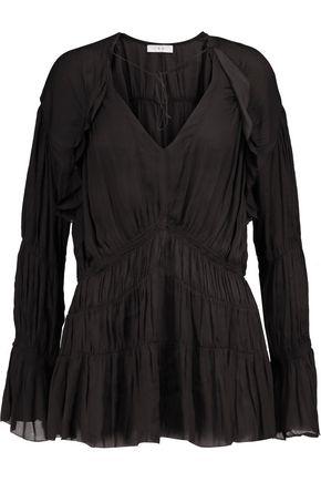 IRO Iryna ruffled voile blouse