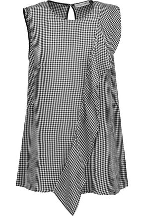 ALTUZARRA Belem ruffled gingham seersucker top