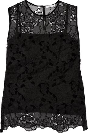 ERDEM Naomi cutout embroidered silk top
