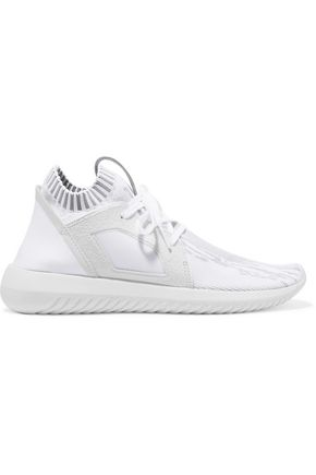 ADIDAS ORIGINALS Tubular Defiant scuba-paneled stretch-knit sneakers