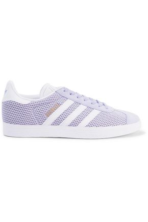 ADIDAS ORIGINALS Gazelle suede-trimmed mesh sneakers