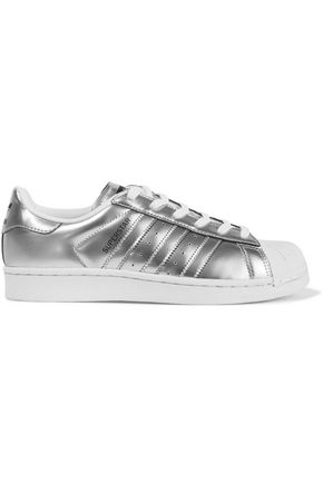 ADIDAS ORIGINALS Superstar metallic leather sneakers
