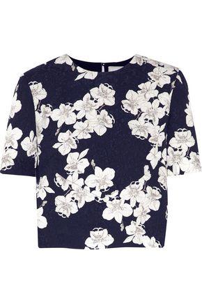 ERDEM Hom Juana floral-print cloqué top