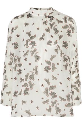 JUST CAVALLI Printed gauze blouse