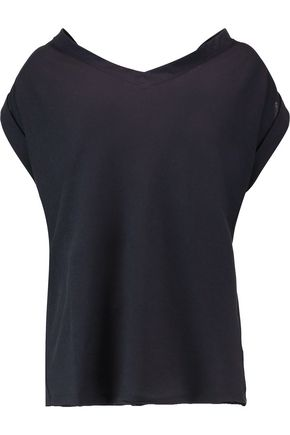 MARNI Cutout draped cotton-twill top