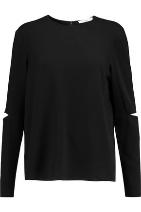 TIBI Savanna cutout crepe top