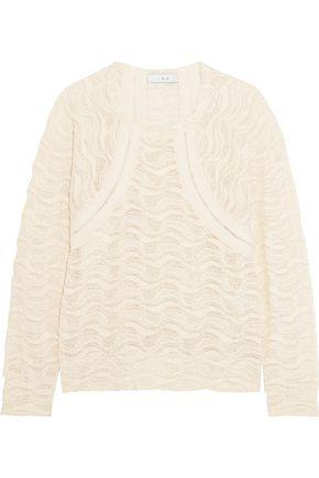 IRO Crocheted cotton-blend top