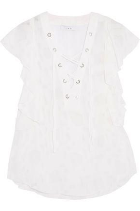 IRO Ruffled fil coupé chiffon blouse