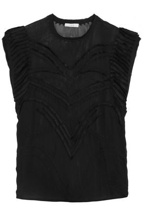 IRO Fringed georgette top