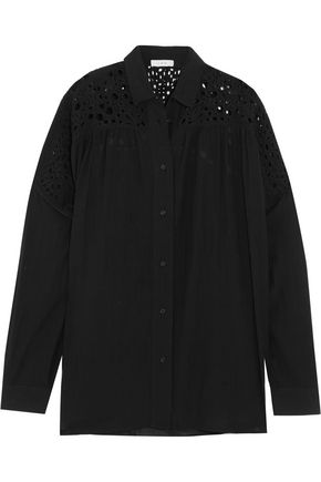 IRO Broderie anglaise and voile shirt