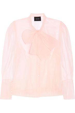 SIMONE ROCHA Pussy-bow mesh blouse