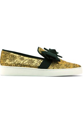 MICHAEL KORS COLLECTION Val bow-embellished jacquard sneakers