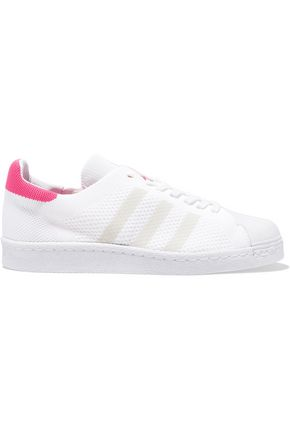 ADIDAS ORIGINALS Superstar two-tone stretch-knit sneakers