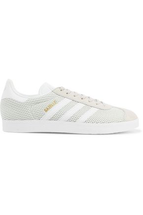 ADIDAS Gazelle suede-trimmed mesh sneakers