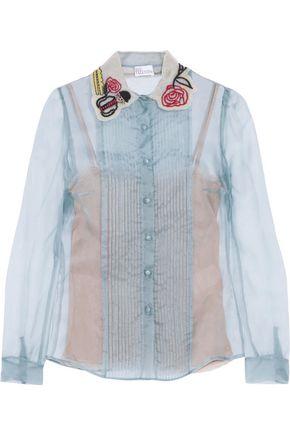 REDValentino Embroidered silk top