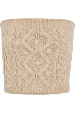 REDValentino Cropped cable-knit top