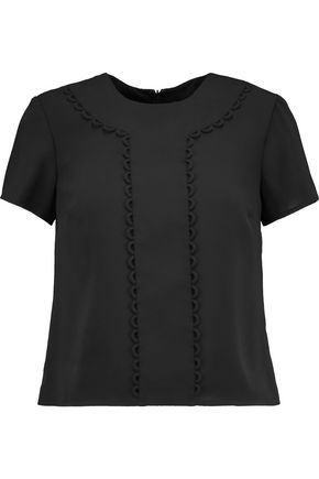 REDValentino Embellished satin-crepe top