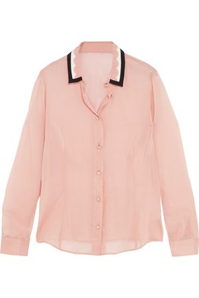 REDValentino Stretch-silk chiffon shirt